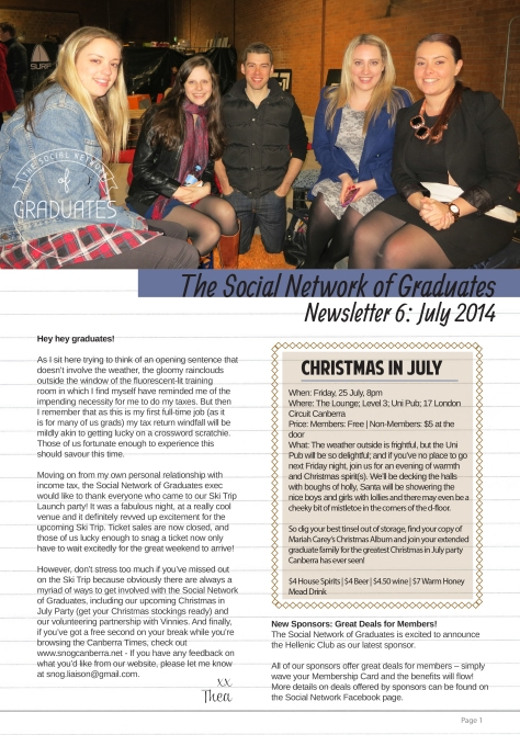 Newsletter 6 - Social Network of Graduates 2014 to 2015-1