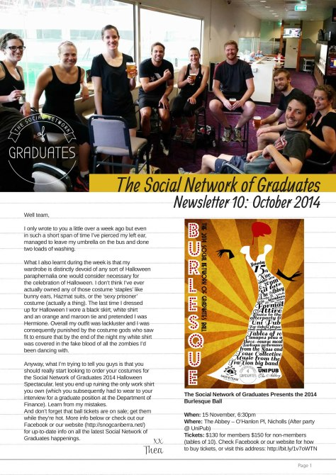 Newsletter 10 - Social Network of Graduates 2014 to 2015-1