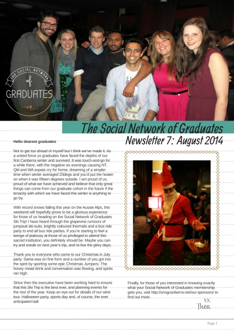 Newsletter 7 - Social Network of Graduates 2014 to 2015-1