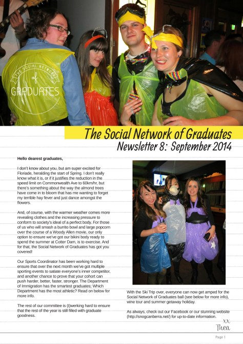 Newsletter 8 page 1